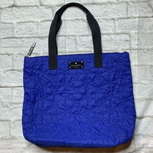 Late Spade NY Quilted Bon Shopper Tote Blue